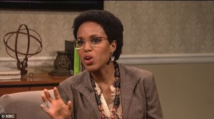 Kerry Washington, SNL, Saturday Night Live, Spelman, How's He Doing
