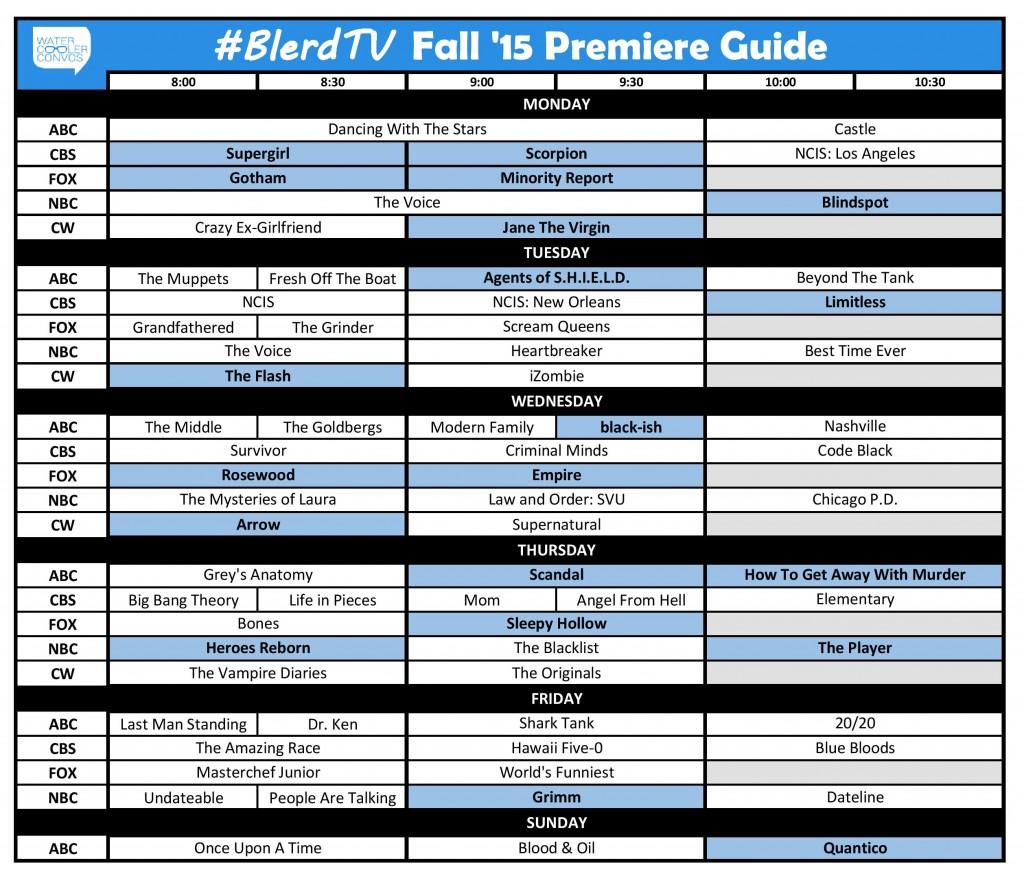 Fall 20150 BlerdTV Schedule